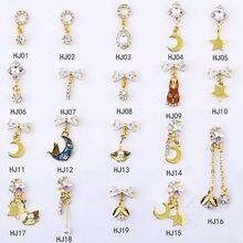 100 pcs/pack 3d nail art jewelry zircon chain tassel chainbowunicorn