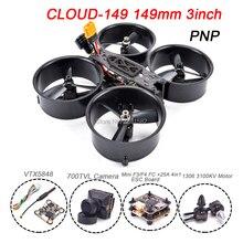 Самонастраиваемым устройством облако-149 149 мм 3 дюймов Рама из углеродного волокна 1306 3100KV мотор 25A BLHELI_S ESC мини F3/F4 700TVL Камера FPV гоночного дрона с дистанционным управлением