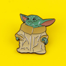 Movie Star Wars Pin Baby Yoda Brooch Cartoon Cute Enamel Badge Backpack Denim Clothes Pins Brooches Jewelry Gift For Children young tulip cute penguin shape brooches for friend lovely animal shape enamel pin purple color unisex brooch cartoon pins gift