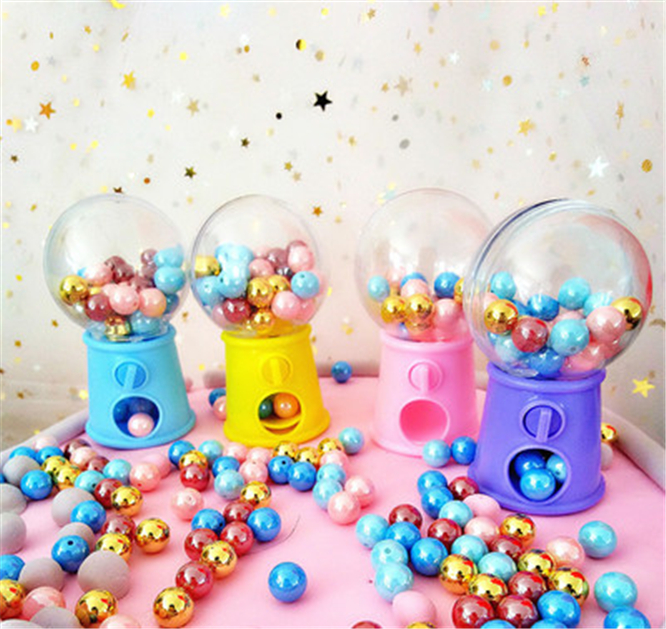 12 PCS/LOT Children Cute Sweets Mini Candy Machine Bubble Dispenser Baby Christmas Birthday Best Gift For Kids Party Decoration