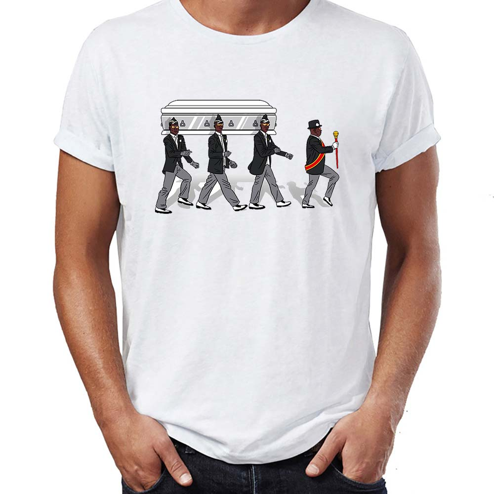 Men's T Shirt Coffin Dance Meme Dancing Pallbearers Abby Artwork Art Printed Tee Funny Basic Short-sleeved Stay Home Or Dance
