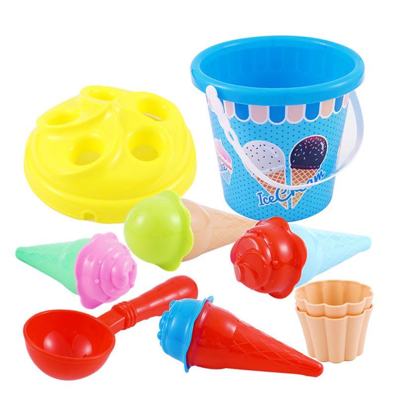 Beach Toys Set Ice Cream And Cake Series Sand Mould Set,13 Piece Toys  Set 72XC