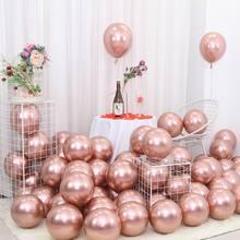 25 sztuk różowe złoty Metal balon dekoracja na przyjęcie z okazji urodzin dla dzieci chłopiec dziewczyna dorosłych ślub urodziny balon panna młoda aby być balon tanie tanio kuchang CN (pochodzenie) Owalne Lateks Ślub i Zaręczyny Chrzest chrzciny Wielkie wydarzenie do ujawnienia płci przyjęcie urodzinowe