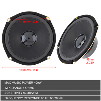 1pcs 6 Inch 400W Car Coaxial Speaker Vehicle Door Auto Audio Music Stereo Full Range Frequency Hifi Speakers Loudspeaker For Car