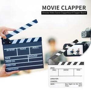 Colorful Field Board Director Video Scene Clapperboard Acrylic TV Film Movie Clapper Board Cut Prop Home Decoration
