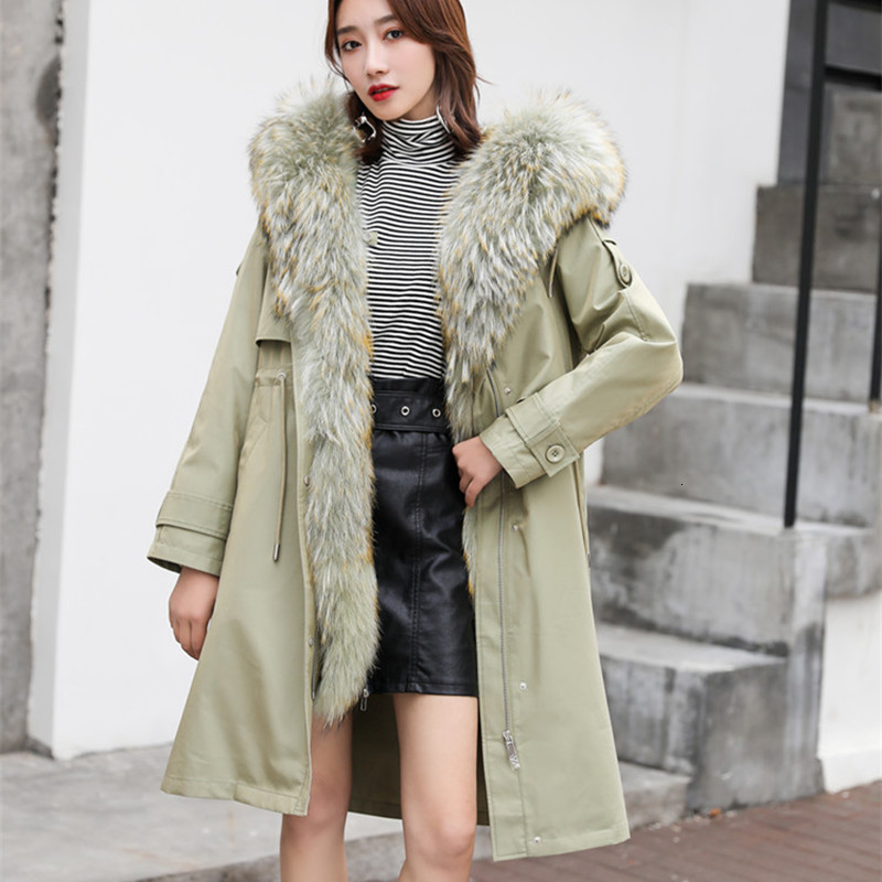 Real Fur Coat Women Winter Coat Women Real Fur Parka Long Jacket Rex Rabbit Fur Coat Women Abrigos Mujer Invierno 2020 8908YY871