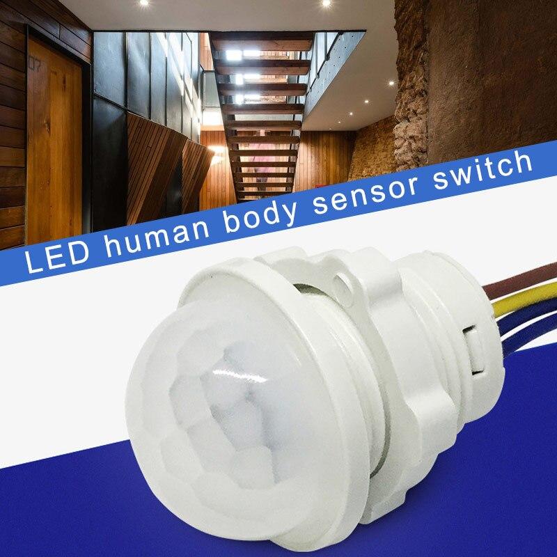 PIR Infrared Motion Sensor Light Time Delay Adjustable Mode Detector Switch For Home Lighting DJA99