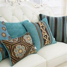 Nueva funda de cojín decorativa de lujo Vintage verde y marrón, funda de almohada Floral para decoración de sofá y coche, fundas de almohada para casa