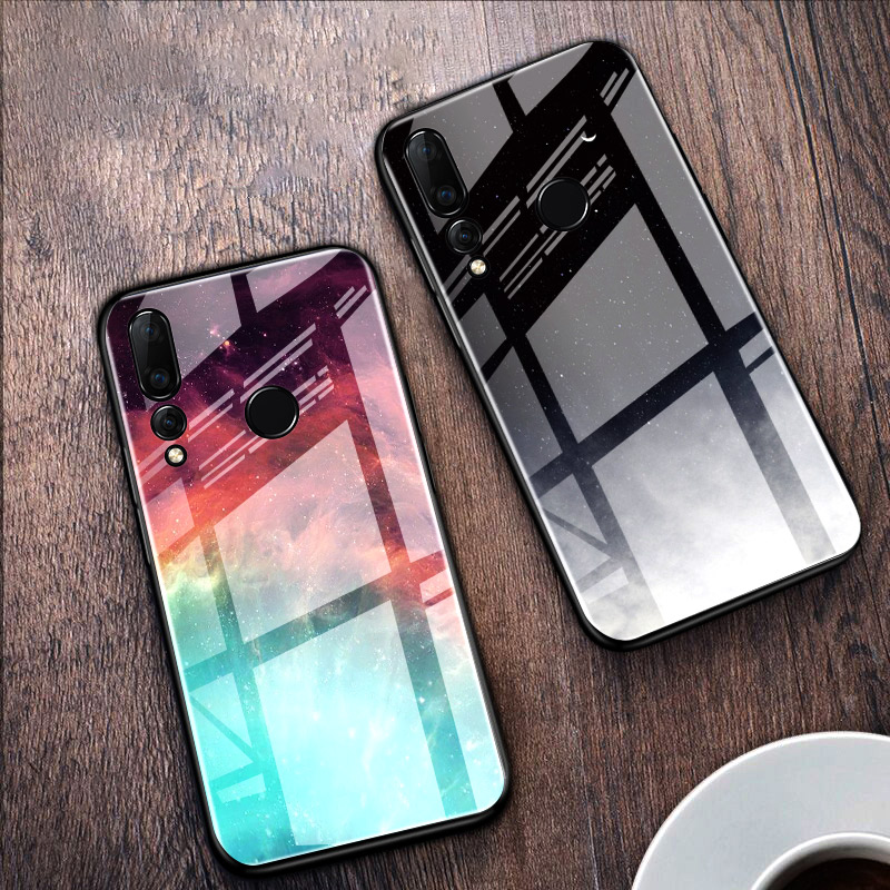 Colorful Tempered <font><b>Glass</b></font> Phone <font><b>Case</b></font> For <font><b>Huawei</b></font> Honor 20 Pro 20S 7A Pro 7C 8C P9 <font><b>P10</b></font> Plus Honor 8 P8 Lite 2017 10i 20i Cover Coque image