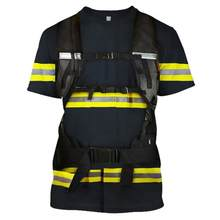 Cool 3D Printed Cosplay Firefighting T-shirt Men HipHop Streetwear Tshirt 2019 Man Gothic Crewneck Tee Punk Clothes Tops 5XL(China)