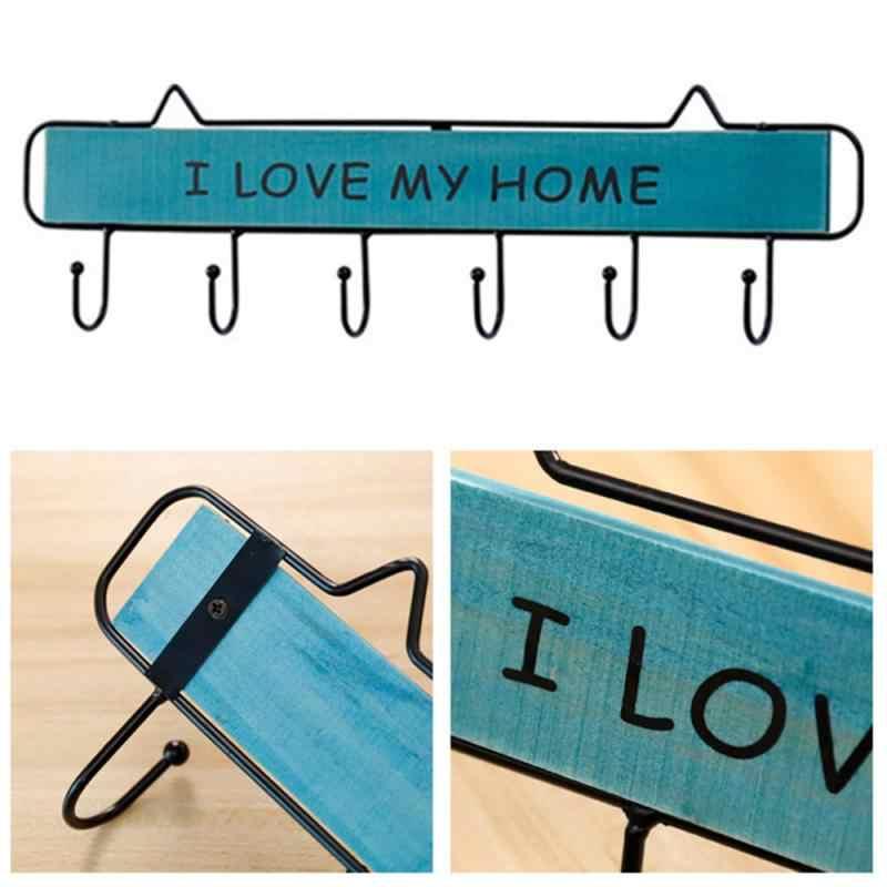 1 шт. настенная вешалка для одежды, 4 крючка, держатель для ключей, вешалка для белья, подвесная полка для хранения вещей для дома