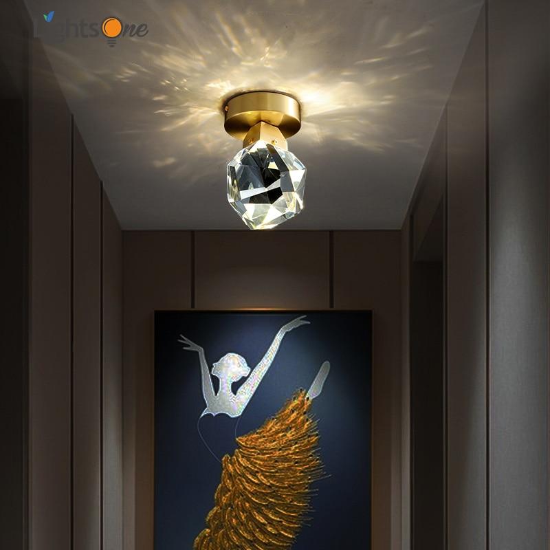 Потолочный светильник, простой, современный, креативный, из меди|Потолочные лампы|   | АлиЭкспресс