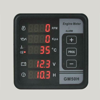 GM50H LCD Display Digital Generator Set Controller Engine Replacement Multifunction Meter Tools ABS Rotating Speed Test