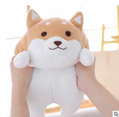 Ücretsiz kargo 1 adet 35/55cm dolması peluş yumuşak Kawaii şişman Shiba Inu köpek karikatür yastık çocuklar için kız arkadaşı doğum günü hediyesi