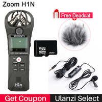 ZOOM H1 H1N enregistreur pratique caméra numérique enregistreur Audio entretien enregistrement Microphone stéréo pour DSLR Boya BY-M1 Microphone