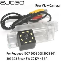 Zjcgo hd retrovisor do carro reverso back up estacionamento câmera à prova dwaterproof água para peugeot 1007 2008 208 3008 301 307 308 break sw cc km 4e 3a