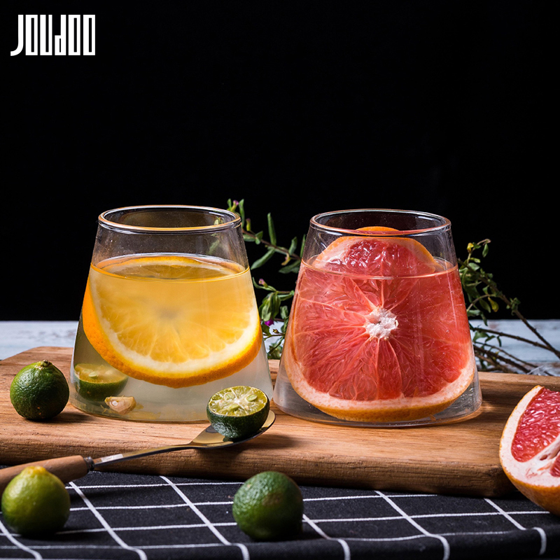 JOUDOO 1/2/4/6/8pcs Creative Mountain Design Glass Water Cup Brief Tea Juice Milk Wine Home Breakfast Drinkware Mug Wholesale 35