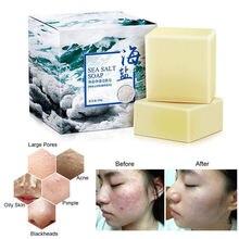 100g Удаление прыщей поры, акне терапии морская соль мыло очиститель увлажняющее мыло козье молоко Уход за лицом мыть основе мыло