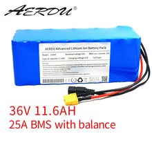 AERDU 36V 11.6Ah 10S4P 18650 Lithium battery pack for 36V batter 250W-750w ebike electric car bicycle motor scooter with 25A BMS