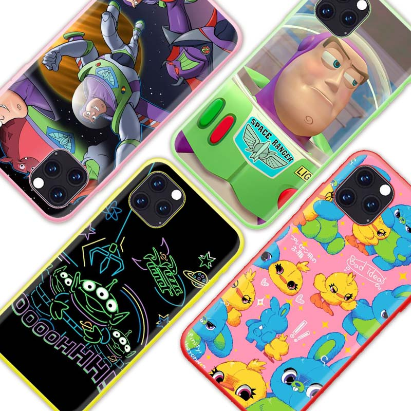Cartoon <font><b>Toy</b></font> <font><b>Story</b></font> Buzz Case for Apple <font><b>iPhone</b></font> 11 Pro X XR XS Max 7 8 6 <font><b>6S</b></font> Plus SE 2020 Color Silicone Cas Phone Covers image