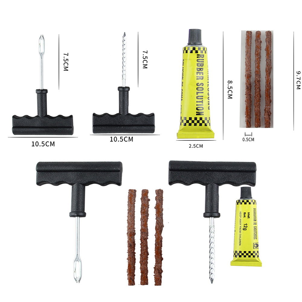 Car Tire Repair Tools Tubeless Auto Tyre Puncture Repair Plug Kit Needle Patch Fix Tool Cement Useful Sets Accessories