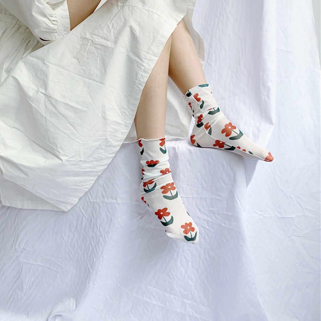 אביב ובקיץ הדפסת מכללת רוח גרביים לנשימה חצי גרבי שמח גרבי נשים תמיכת dropshipping