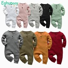 Jumpsuit Toddler Outfits Romper Long-Sleeve Ribbed Knitted Infant Newborn Baby-Boys-Girls