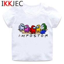 T-Shirt Boys Funny Amoung Us Children Streetwear Girls Cartoon Kids Summer Kawaii Cute