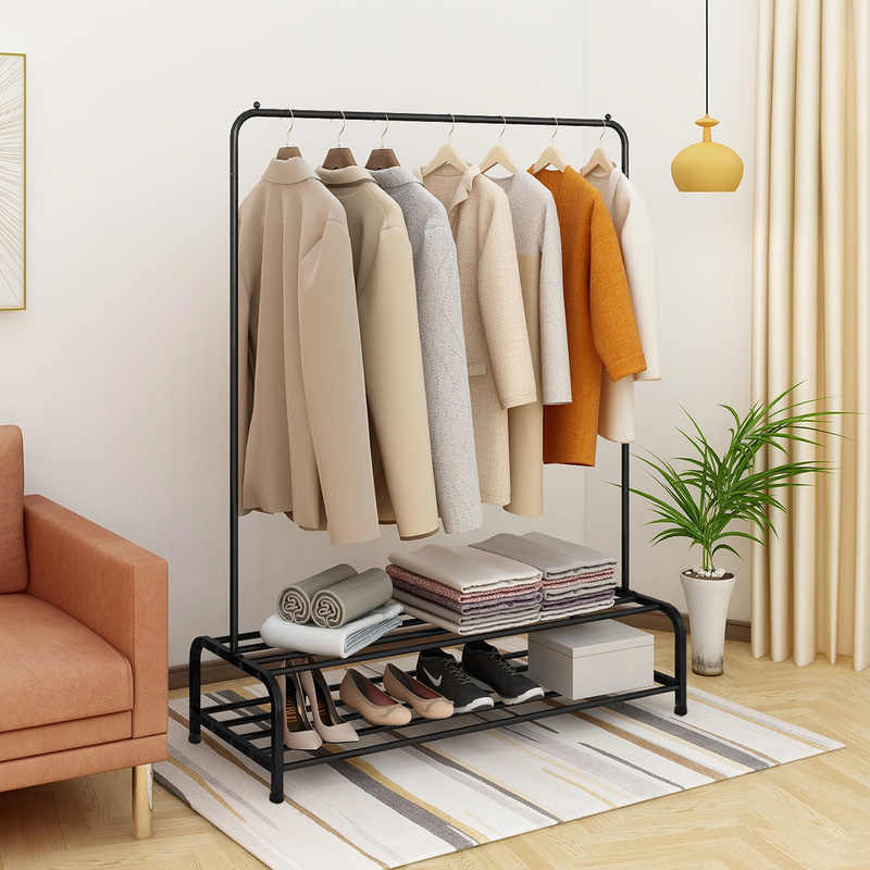jurmerry metal clothes rack with 2 tier