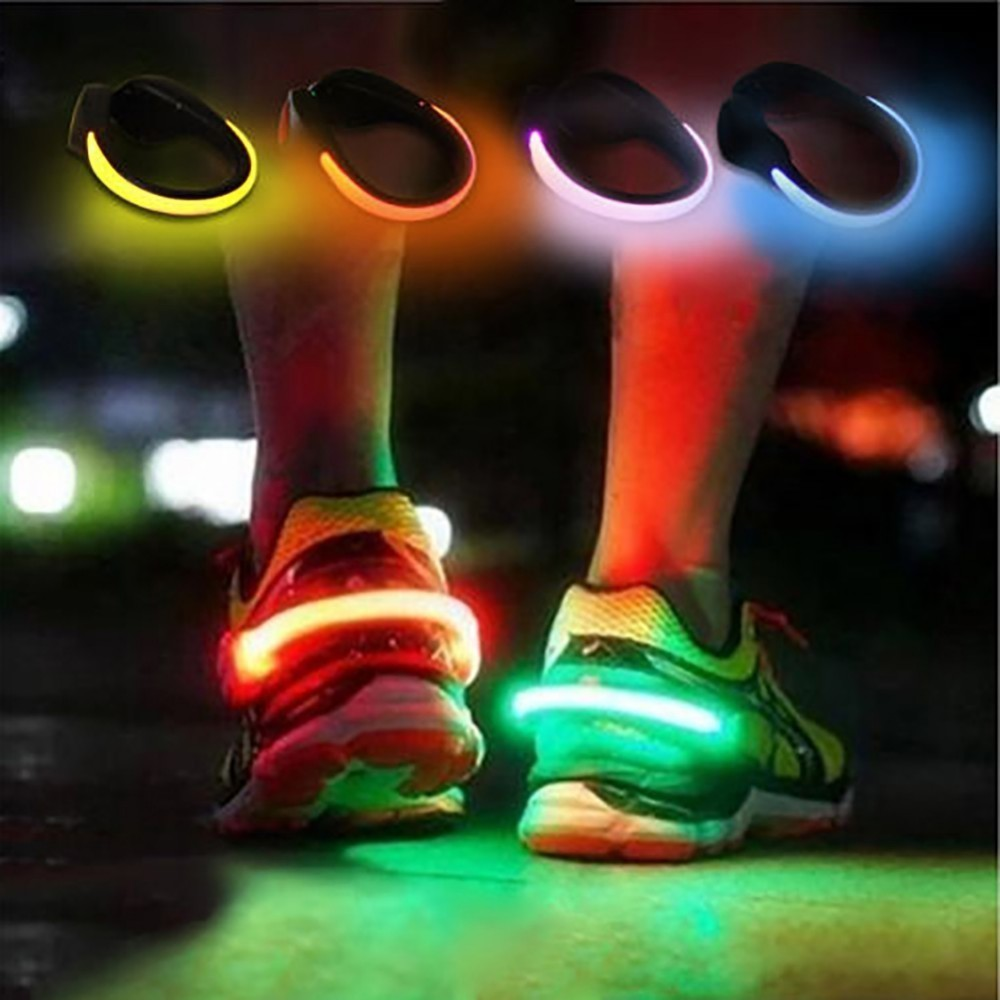 LED Luminous Shoe Clip Outdoor Bicycle Night Running Shoe Safety Cycling Sports Travel LED Luminous Warning Light New Fashion