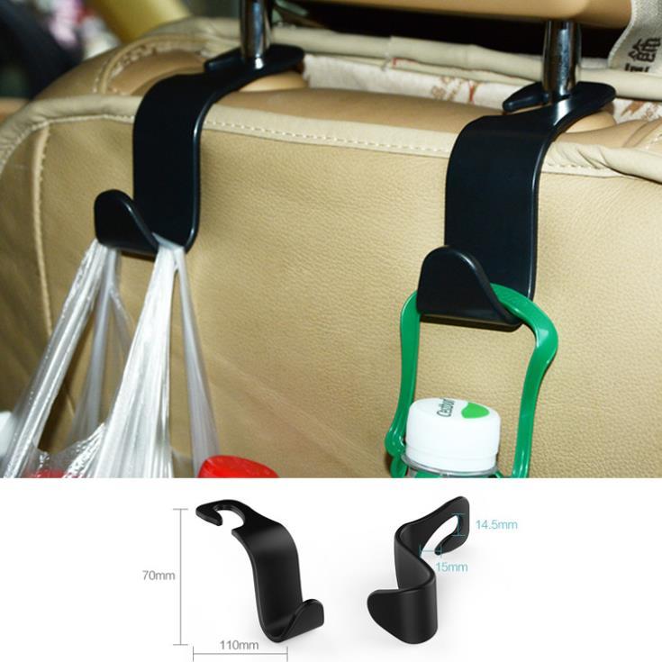 2pc Car Seat Back Hooks Hanger Organizer Universal Headrest Mount Storage Hook House Storage Simple Styling Car Coat Hanger