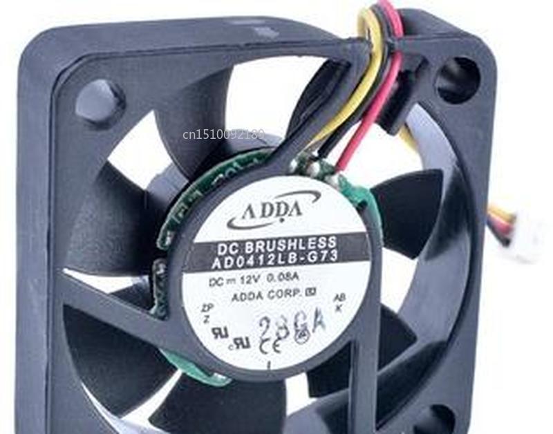 For Original ADDA AD0412LB-G73 4010 4cm Ultra Quiet Dual Ball Bearing Cooling Fan Free Shipping