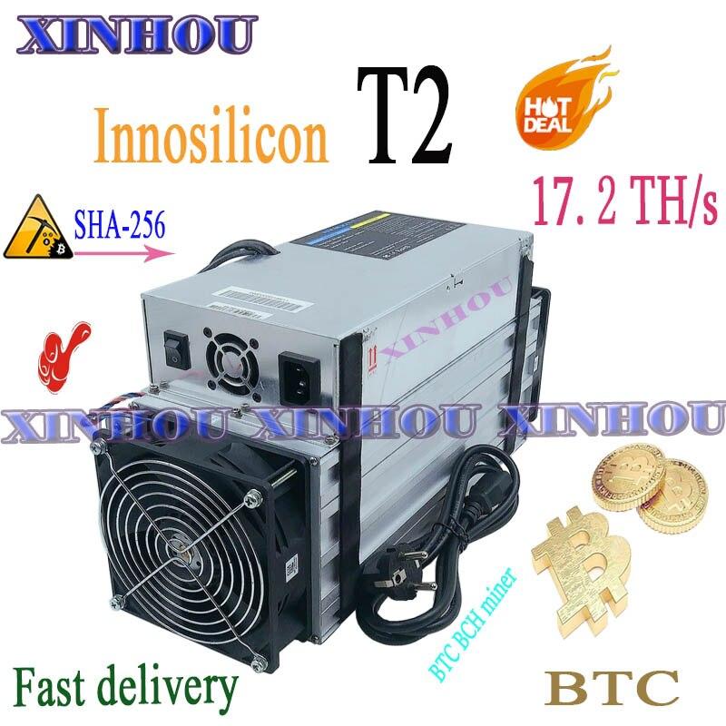Б/у ASIC шахтер Innosilicon T2 17,2 T SHA256 BTC BCH Майнер экономически выгодной, чем Antminer S9 S17 S17e T17 T17e M20S M21S M3 T2T T3 E12