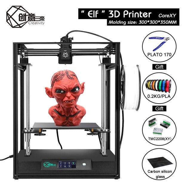 Kreatywność ELF zestaw do drukarki 3D duży rozmiar 300*300*350mm CoreXY wysokiej precyzji DIY FDM 3D drukarki rdzeń XY podwójna oś Z
