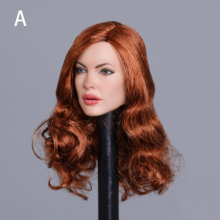 In stock GC031 1/6 European Women Head Models with Curly Long Hair for 12''Bodies Figures Toys Gifts DIY