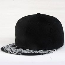 White Paisley Pattern Black Hat New Fashion Man Women Summer Baseball Cap Sun Hat Adjustable Hip Hop Snapback Caps Hat(China)
