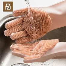 4 Kleuren Youpin Magic Silicone Cleaning Handschoenen Isolatie Non Slip Afwassen Handschoen Dubbelzijdig Slijtage Handschoenen Voor Thuis keuken