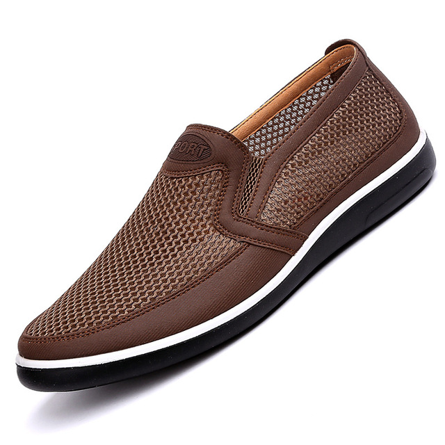 2019 New MenS Casual Shoes Men Summer Style Mesh Flats For Men Loafer Creepers Casual High End  Shoes Very Comfortable