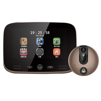 IG-Video Doorbell Camera 4.3 Inch Digital Display Door Bell Peephole Viewer Hd Camera 3Mp with Ir Motion Sensor