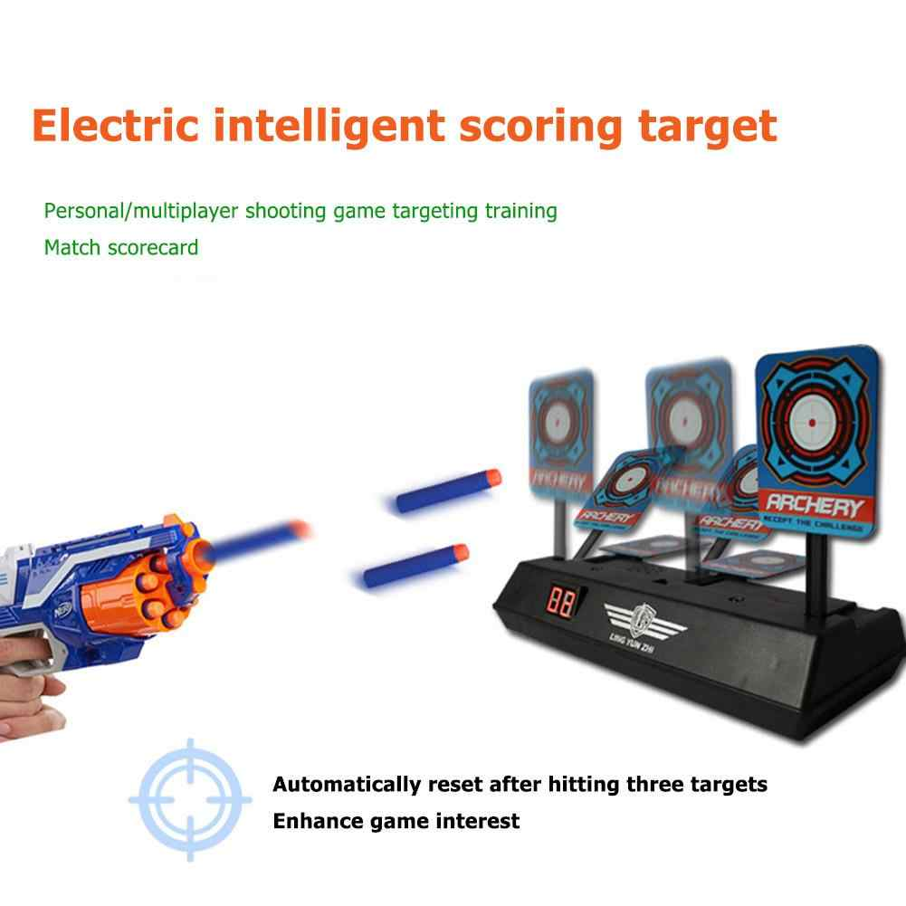 Untuk Nerf Mainan Menembak Sasaran Anak-anak Cahaya Suara Shooting Game Presisi Tinggi Skor Auto Reset Listrik Target Senjata Aksesoris