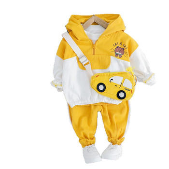 2020 Children Autumn Baby Girls Boys Clothing Sets Infant Toddler Clothes Cartoon Bear Hooded Coat Pants 2Pcs Kids Costume Suits spring autumn baby clothes suit children boys girls cartoon pattern hooded toddler fashion casual clothing kids outing costume