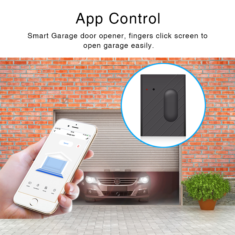 Tuya Smart Garage Door Opener Controller Wifi Switch With Tuya APP Control Smart Life Home Door Remote Control