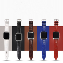 Genuine Cow Leather Strap for apple watch Series 1 2 3 band 38mm/42 mm iWatch 4 Band Watch