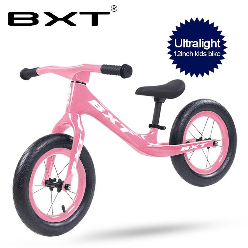 BXT New Ultralight Kids Bike Pedal-less Balance Carbon Children Bike Push Bike Children's Walker Carbon Kid Bicycle 1.95KG