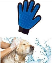 2pcs lot pet dog Massage gloves, dog cleaning product, pet comb hair brush, True touch, face-beautifying and hair-sticking(China)