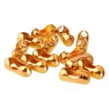 10/20/50/100PCS 2/3/4/6/8/10/12mm Edelstahl Ball Kette Verbindungsstück-haken Ende Perlen Crimp Gold Farbe DIY Entdeckungen Zubehör