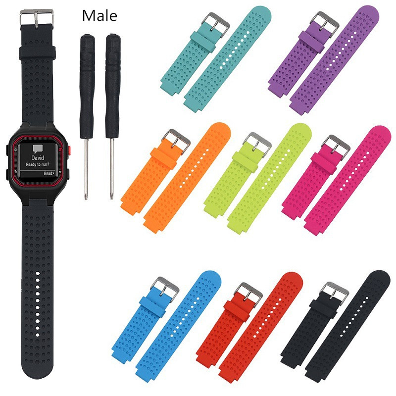 Soft Silicone Replacement Watch Band Strap For Garmin Forerunner 25 Running SmartWatch Accessories Wristband 1EW in Smart Accessories from Consumer Electronics