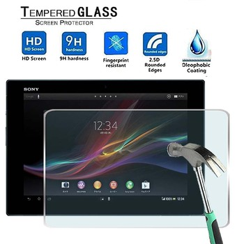 For Sony Xperia Tablet Z -Premium Tablet 9H Tempered Glass Screen Protector Film Protector Guard Cover for teclast p10 9h premium tablet tempered glass screen protector film protector guard cover