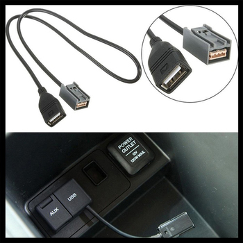 AUX USB CABLE ADAPTER 2008 ONWARD FOR HONDA for CIVIC for JAZZ/Honda CR-V for ACCORD/ image