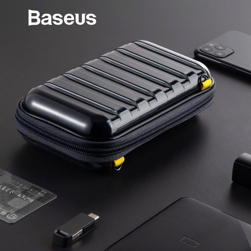 <font><b>Baseus</b></font> Shockproof Storage Bag USB Cable Card Charger Mobile Phone Earphone Bag PC Waterproof Organizer Bag Travel Accessories image